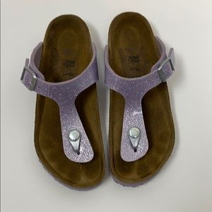 Birkenstock Girls Gizeh Purple Sandals Size 33